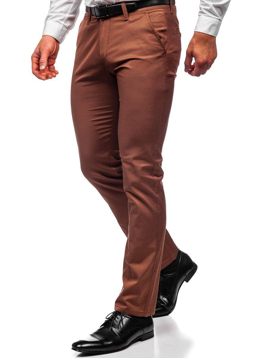 Pantaloni chinos maro bărbați Bolf KA1786P imagine