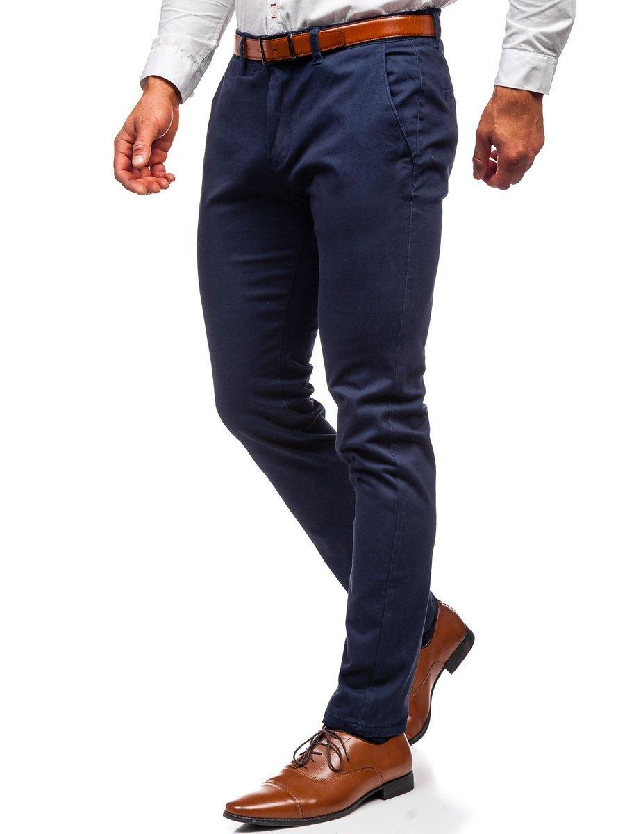 Pantaloni chinos bleumarin bărbati Bolf 1143
