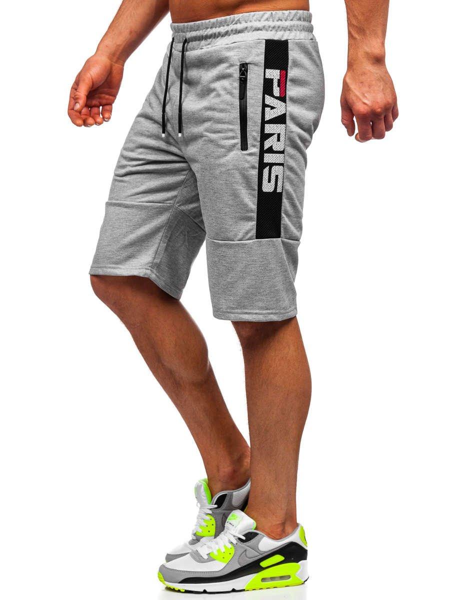 Pantaloni scurți de trening gri Bolf JX361 imagine