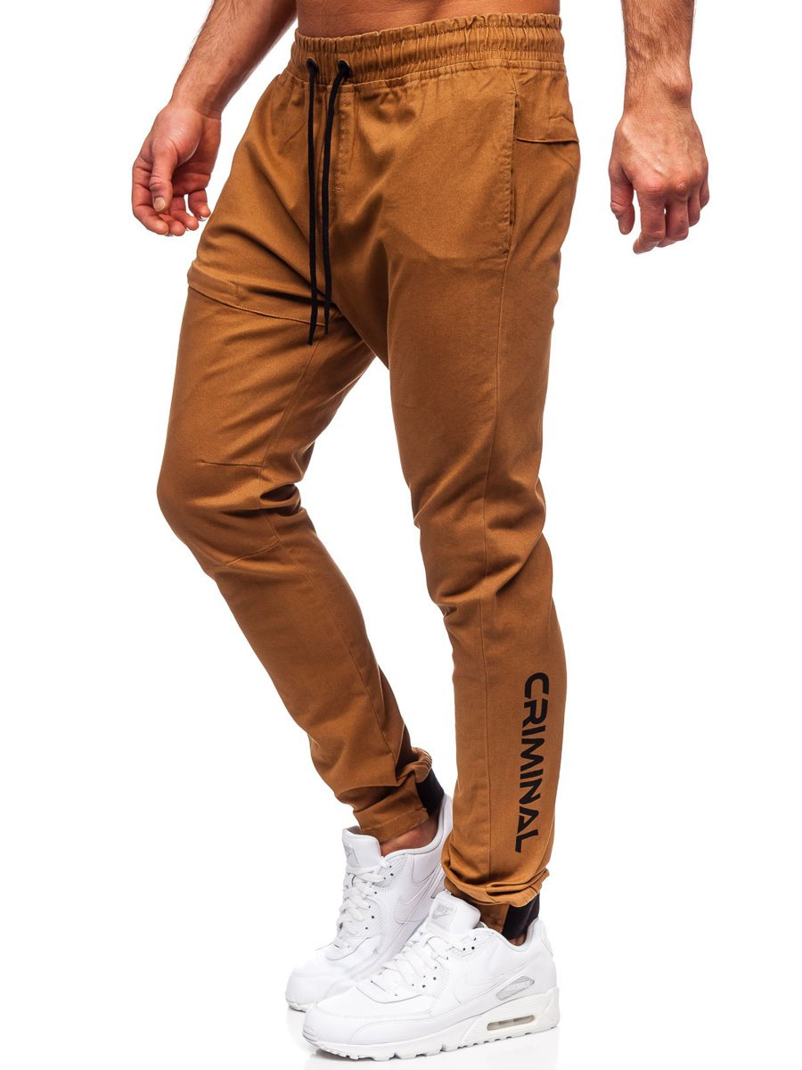 Pantaloni joggers camel Bolf B11119 imagine