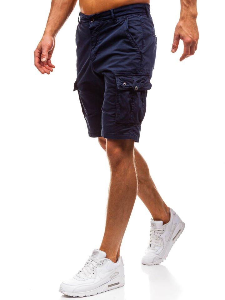 Pantaloni scurți cargo bărbați bleumarin Bolf 82223