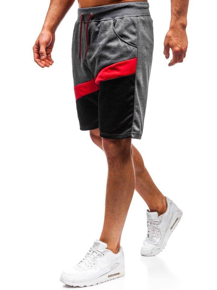 Pantaloni scurți de trening bărbați grafit Bolf 81018
