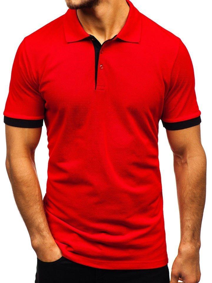 Tricou polo bărbați roșu Bolf 171222-1 imagine
