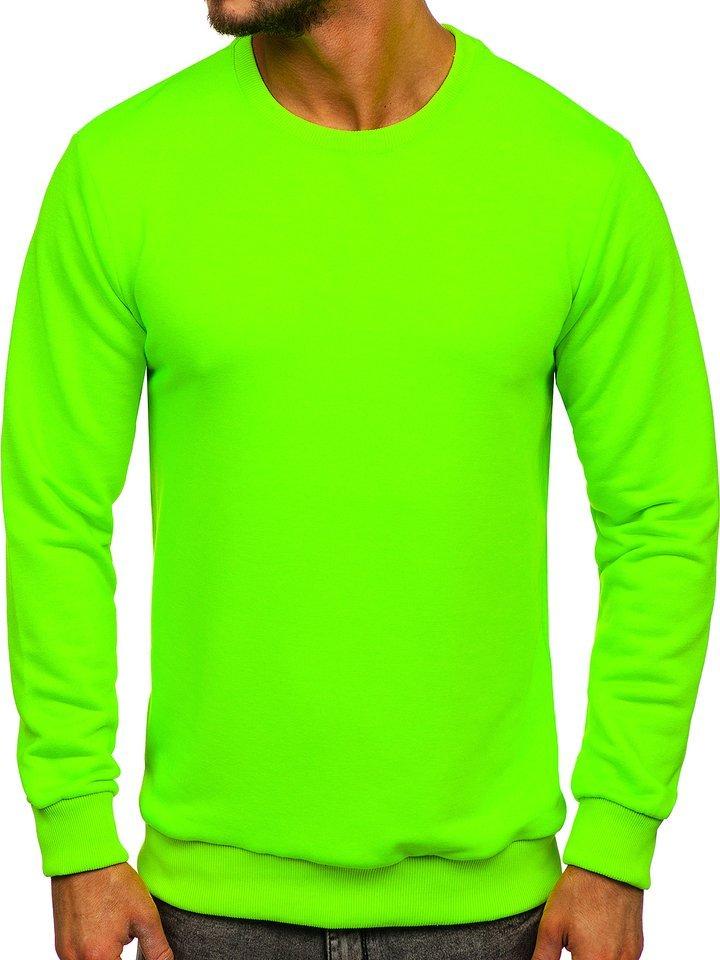 Hanorac bărbati verde-neon Bolf 171715