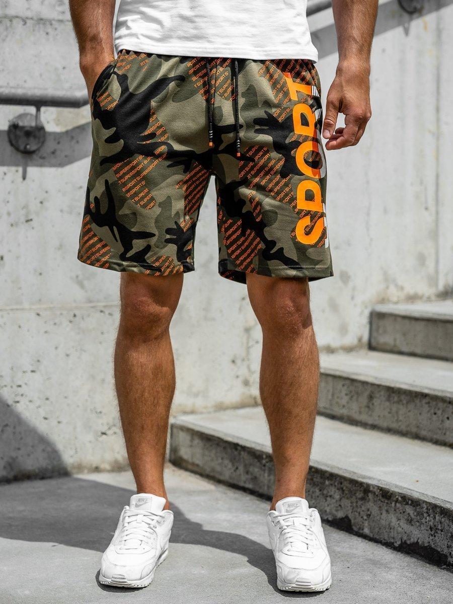 Pantaloni scurți de trening kaki Bolf KS2504 imagine