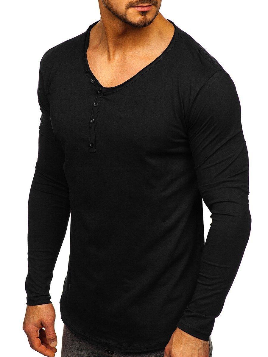 Bluză neagră bărbati Bolf 5059