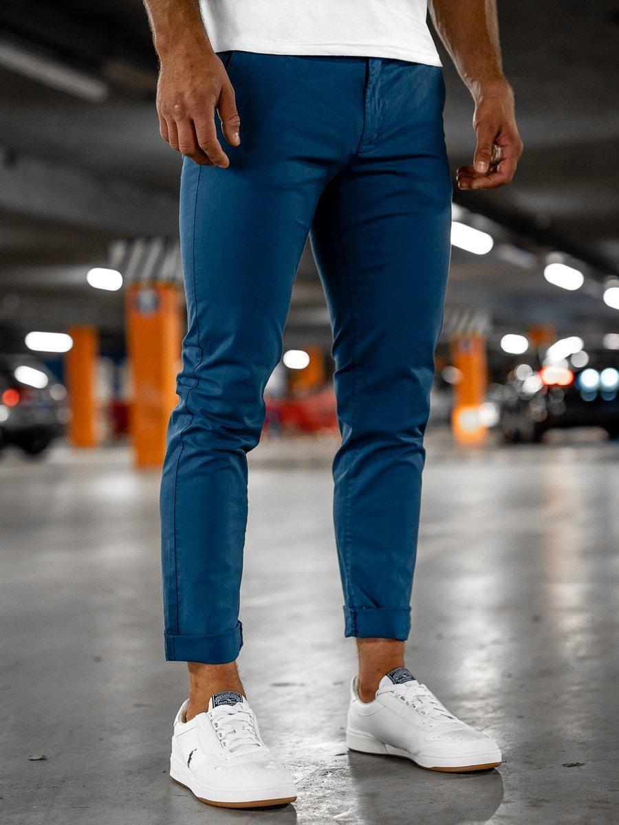 Pantaloni chinos indigo bărbați Bolf 1146 imagine