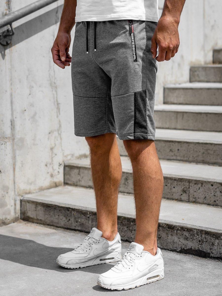 Pantaloni scurți grafit bărbați Bolf JX353 imagine