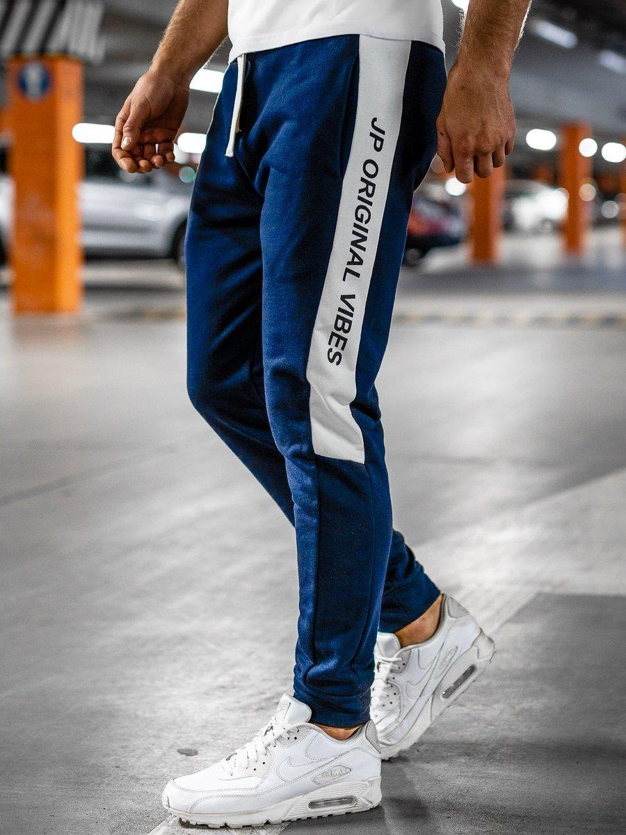 Pantaloni de trening bleumarin Bolf N1216