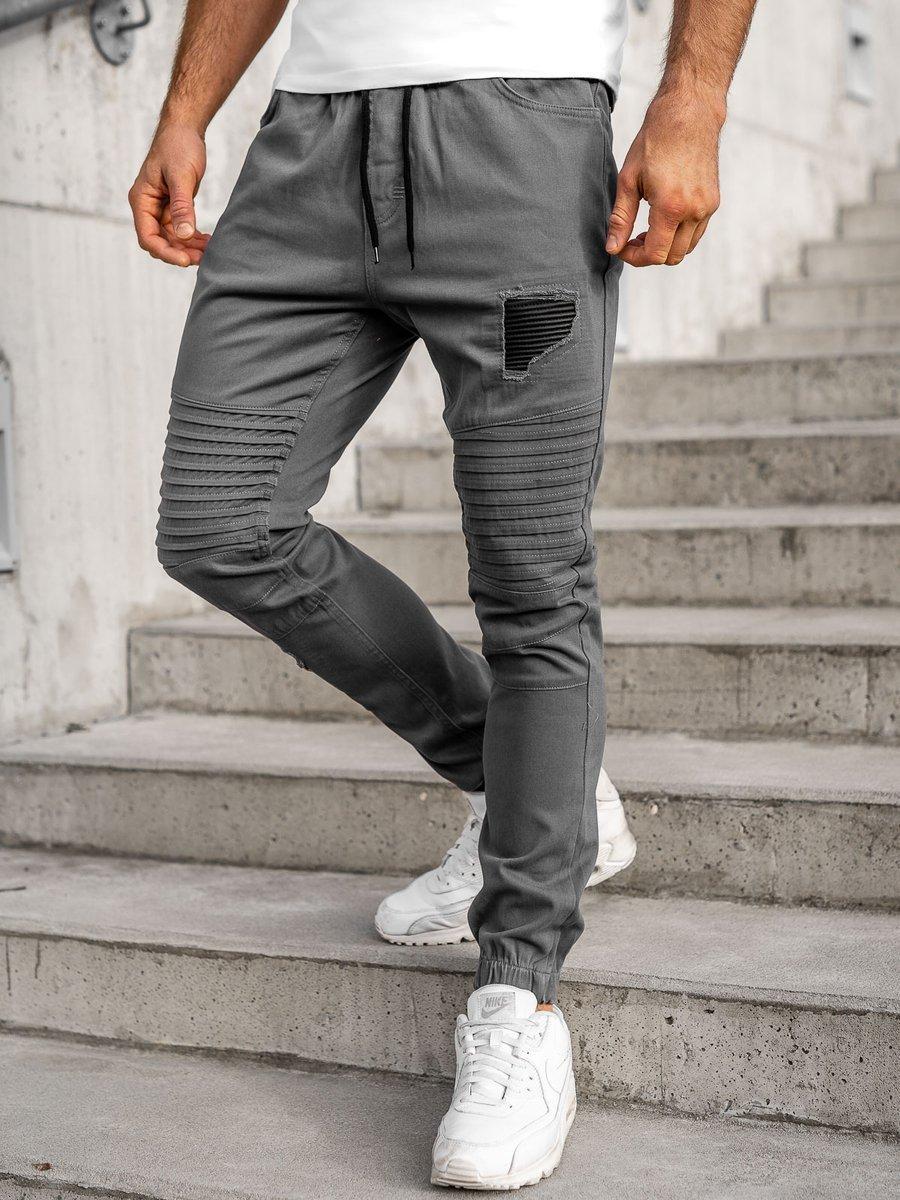Pantaloni joggers pentru bărbat gri Bolf 0829