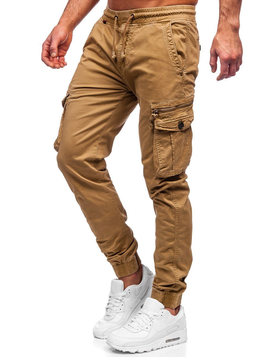 Pantaloni cargo camel Bolf CT6706S0 imagine