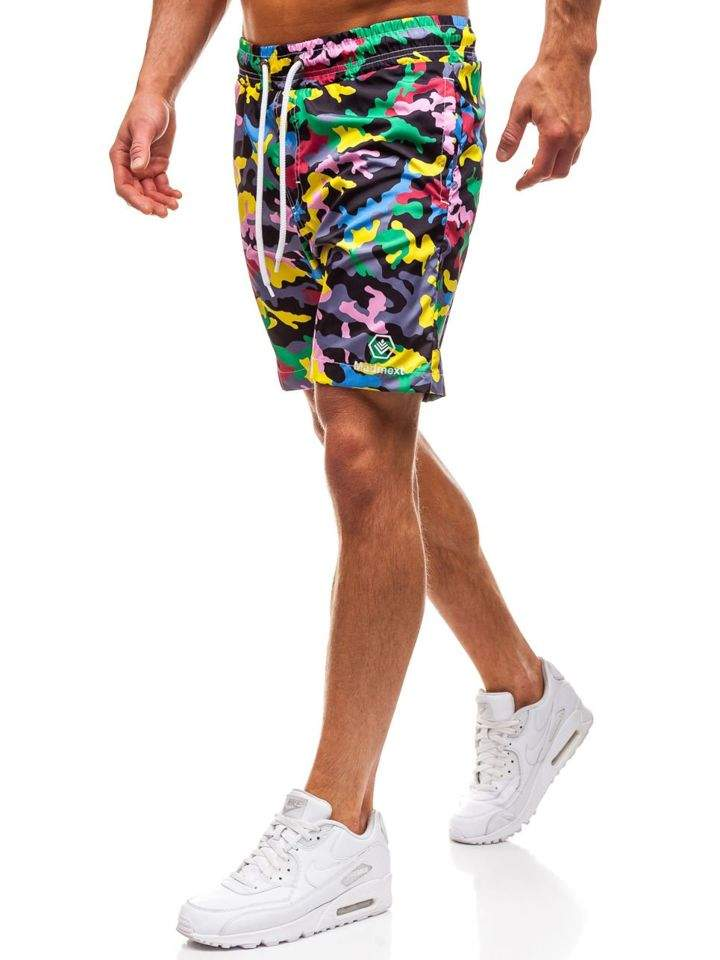 Pantaloni scurți de baie pentru bărbat multicolorați Bolf K1950A