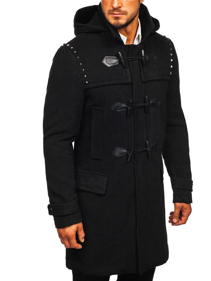 Palton de iarnă bărbați negru Bolf 88870 imagine