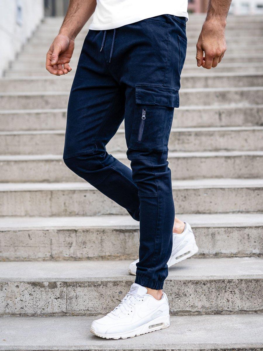Pantaloni joggers cargo bleumarin Bolf 11104