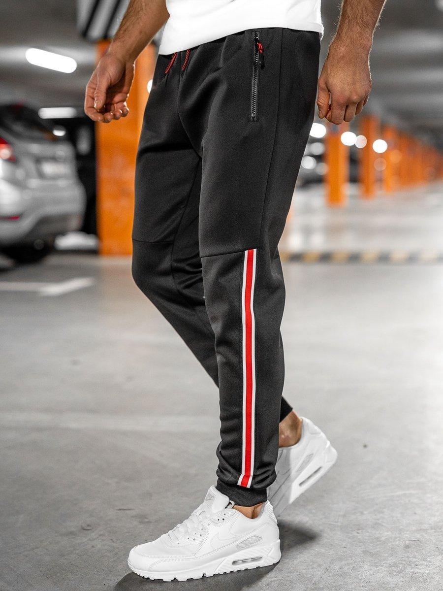 Pantaloni de trening negri Bolf K20025 imagine