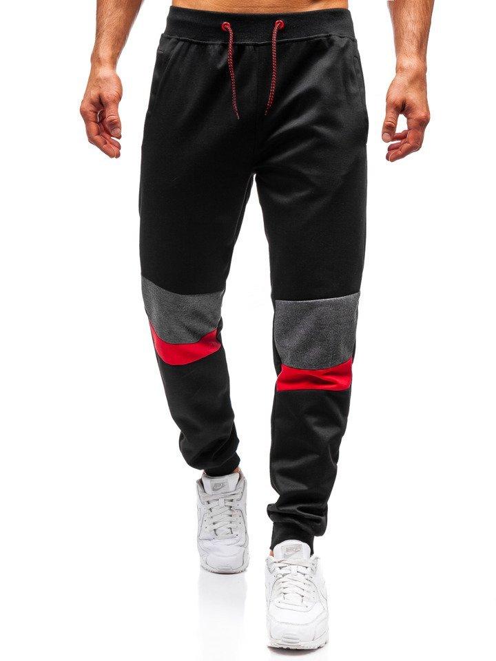 Pantaloni de trening bărbați negru Bolf 35002