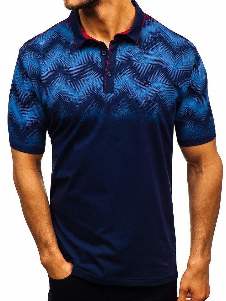 Tricou polo bărbați bleumarin Bolf 6601 imagine