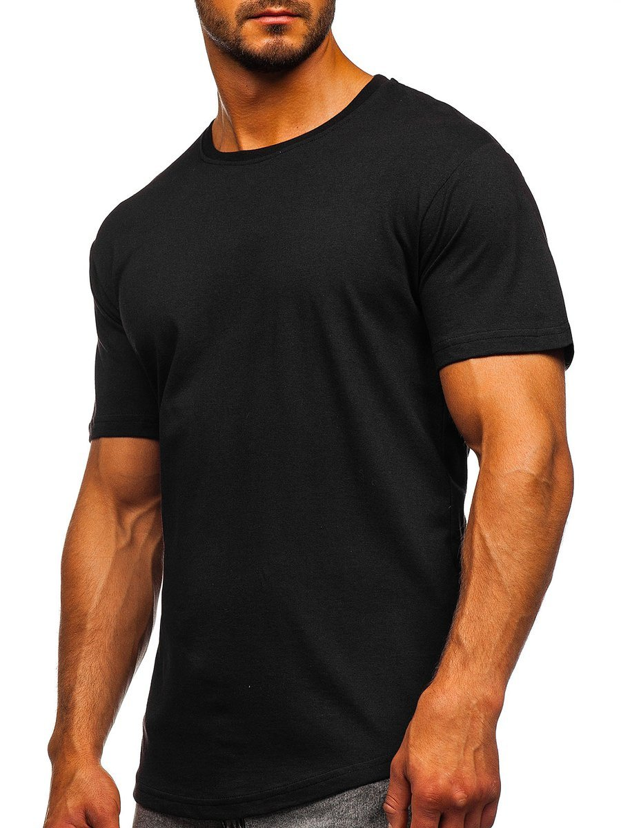 Tricou lung bărbați negru Bolf 14290 imagine