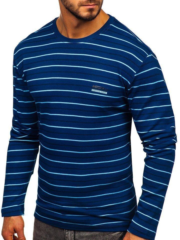 Bluza în dungi bărbati albastra Bolf 1519
