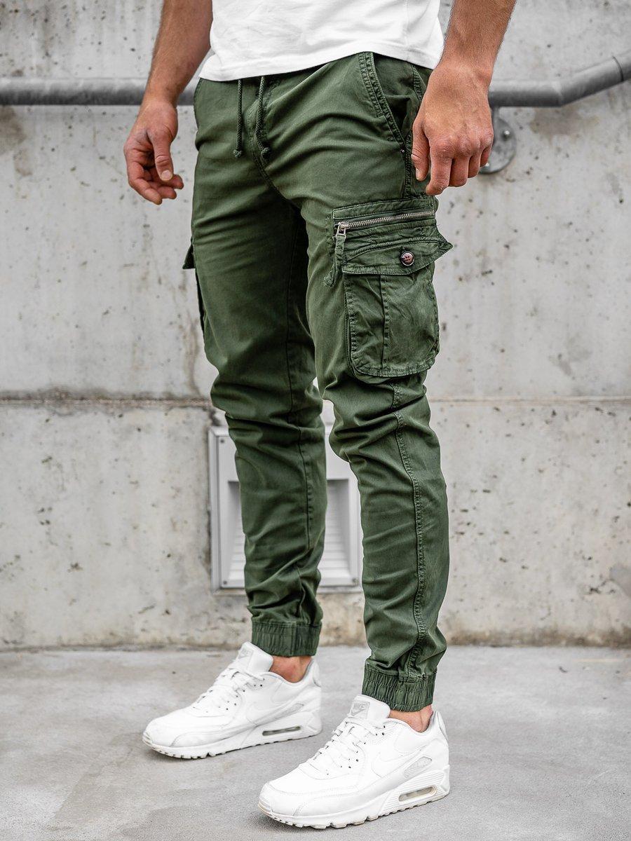 Pantaloni cargo verde-închis bărbați Bolf CT6702 imagine