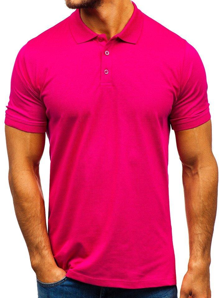Tricou polo bărbați roz-închis Bolf 9025 imagine