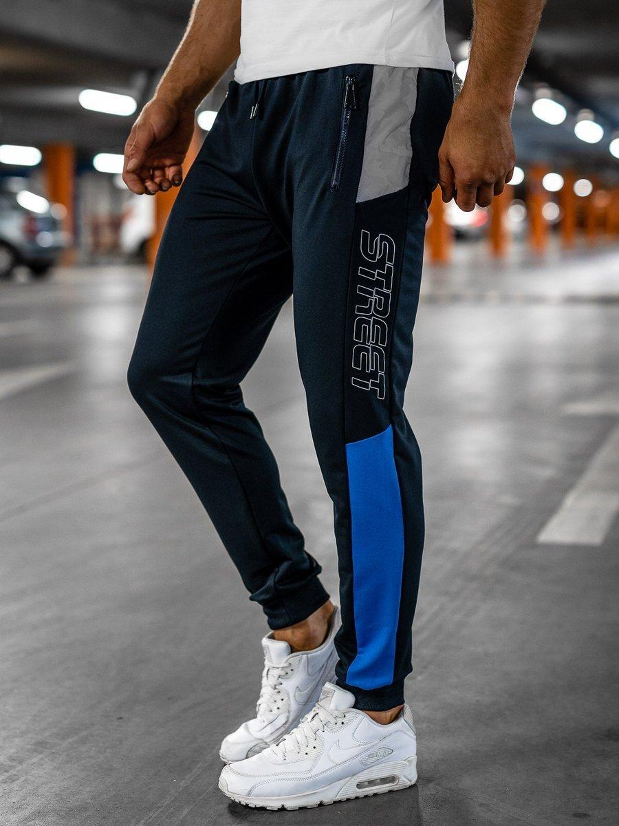 Pantaloni de trening joggers bleumarin Bolf HY722 imagine