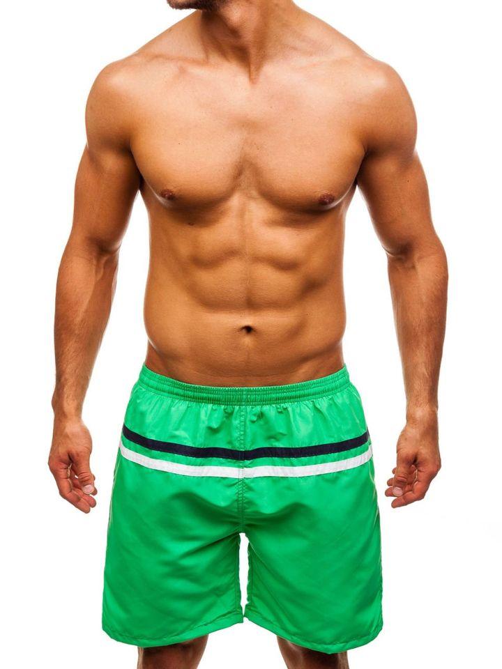 Pantaloni scurți de înot pentru bărbat verzi Bolf Y765 imagine
