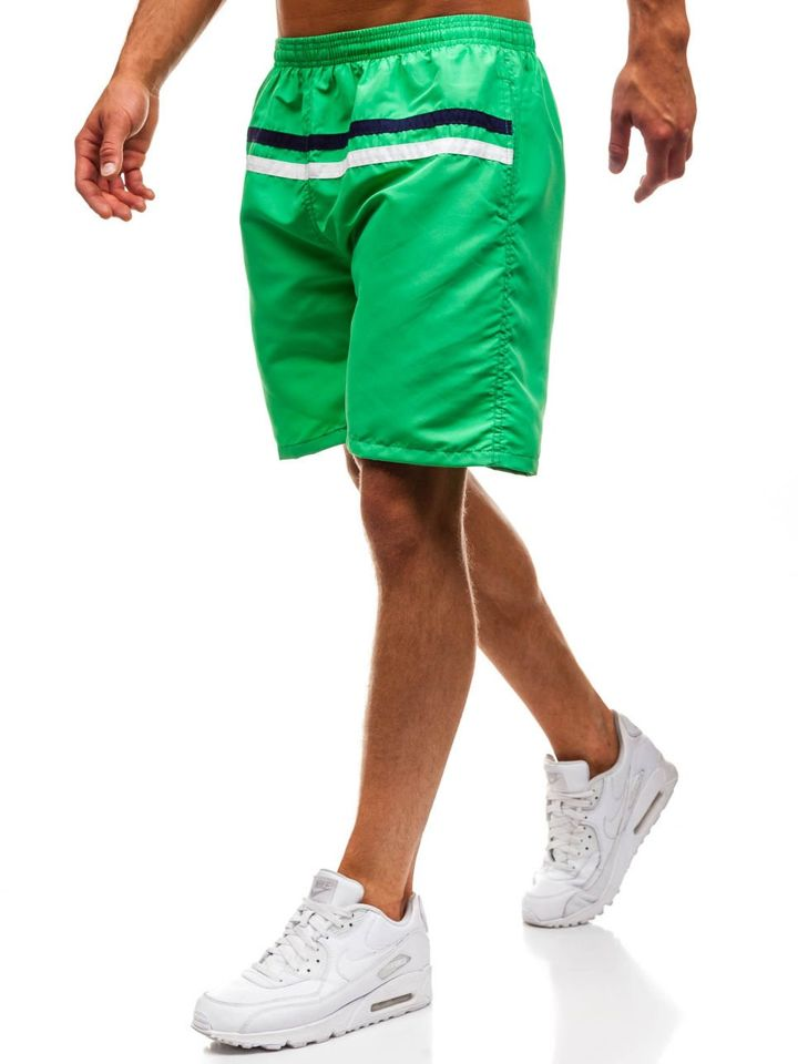 Pantaloni scurți de înot pentru bărbat verzi Bolf Y765