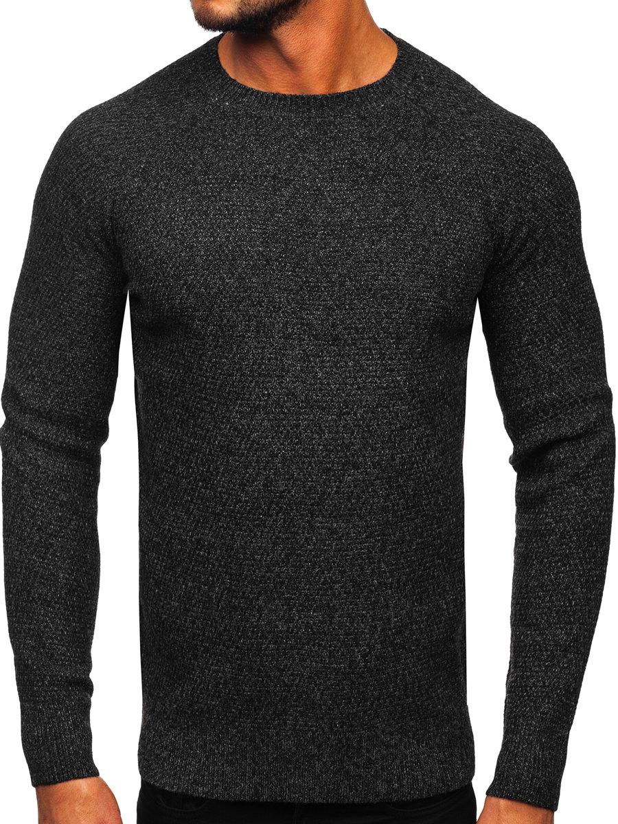 Pulover pentru bărbat negru Bolf H1810