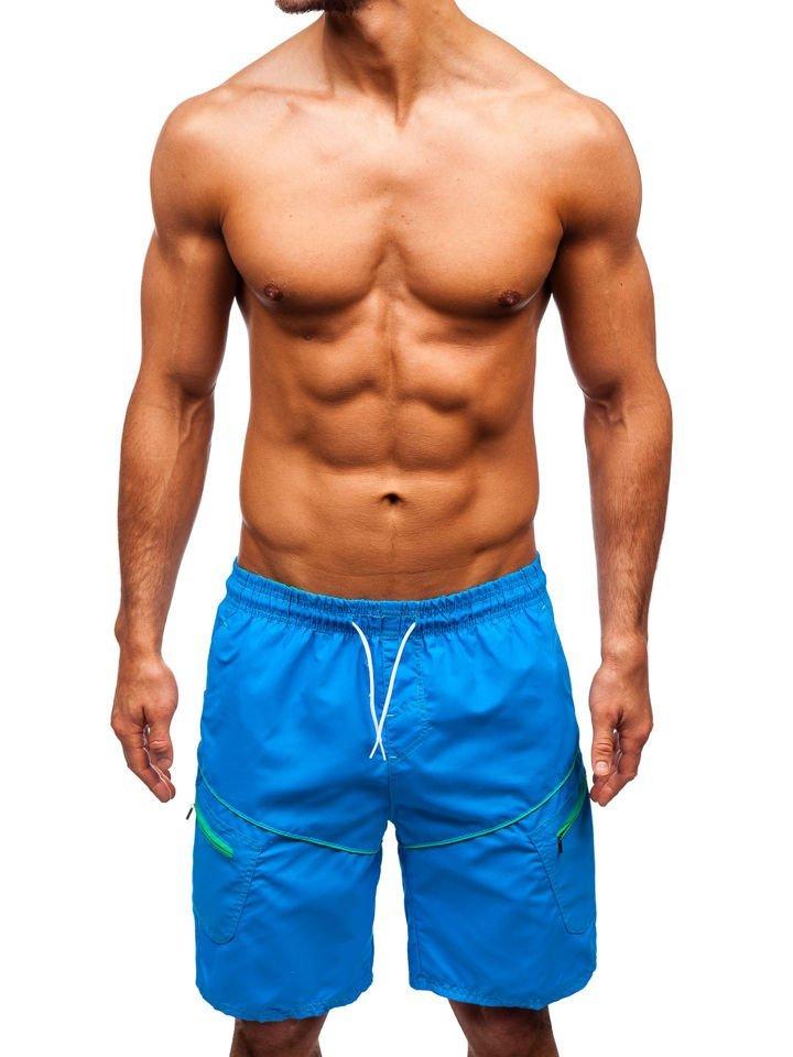 Pantaloni scurți de baie bărbați albastru-deschis Bolf 341
