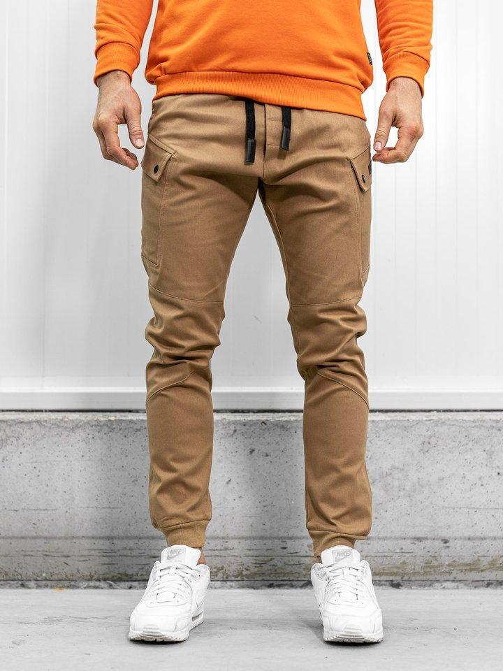 Pantaloni joggers camel Bolf 11103 imagine