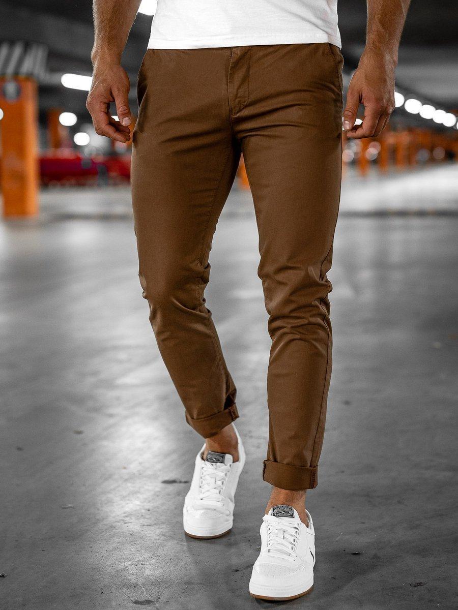 Pantaloni chinos maro Bolf 1146-1 imagine