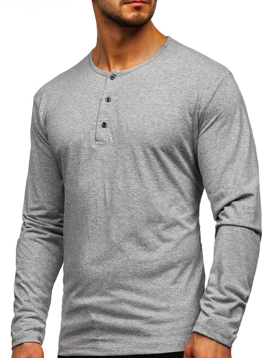 Bluză gri cu închidere la nasturi Bolf 1114 imagine