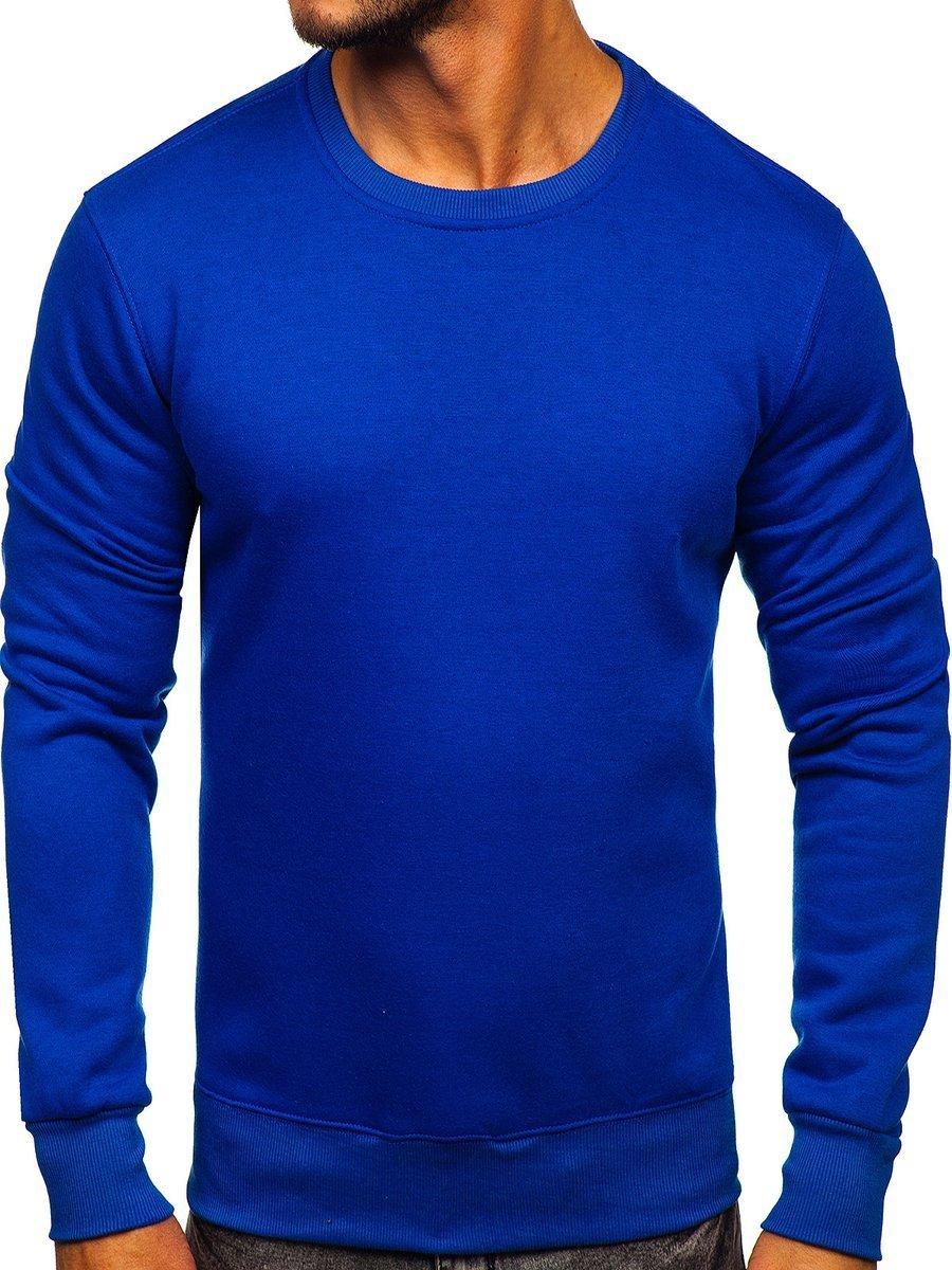 Bluză fără glugă pentru bărbat albastru-cobalt Bolf BO-01