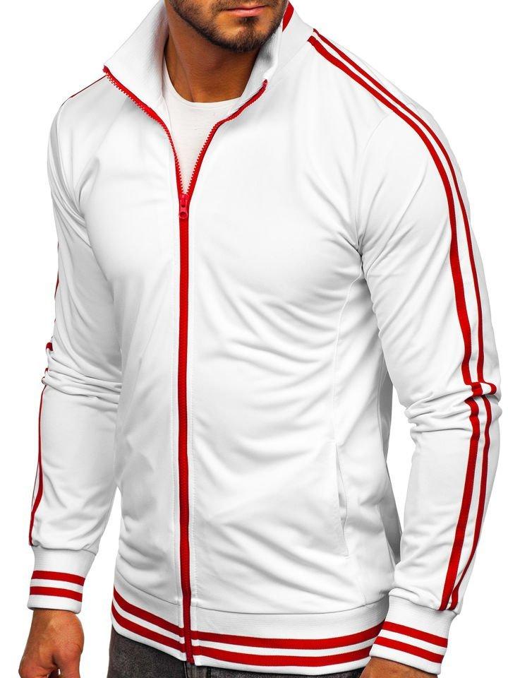 Bluză retro style cu fermoar bărbați albă Bolf 11113 imagine