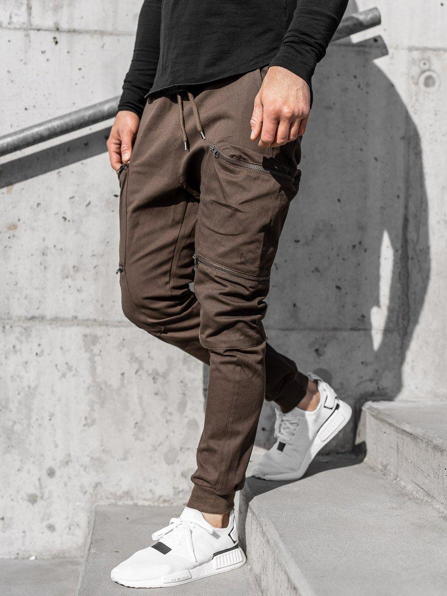 Pantaloni trening bărbați maro Bolf 0475 imagine