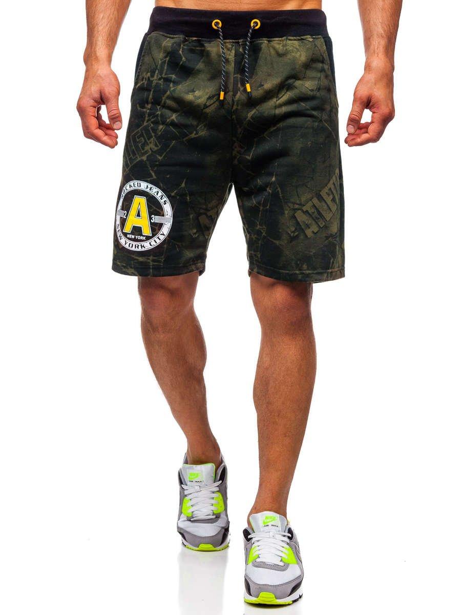 Pantaloni scurți de trening verzi Bolf KK300166 imagine