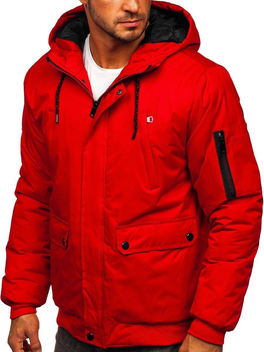 Geacă de iarnă roșie Bolf HY821