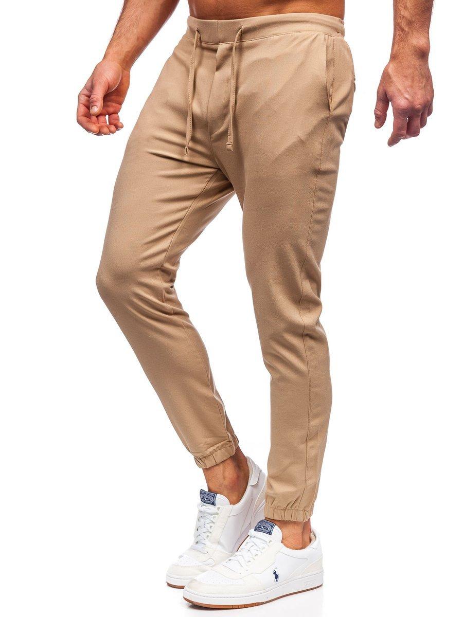 Pantaloni joggers bej Bolf 0011 imagine