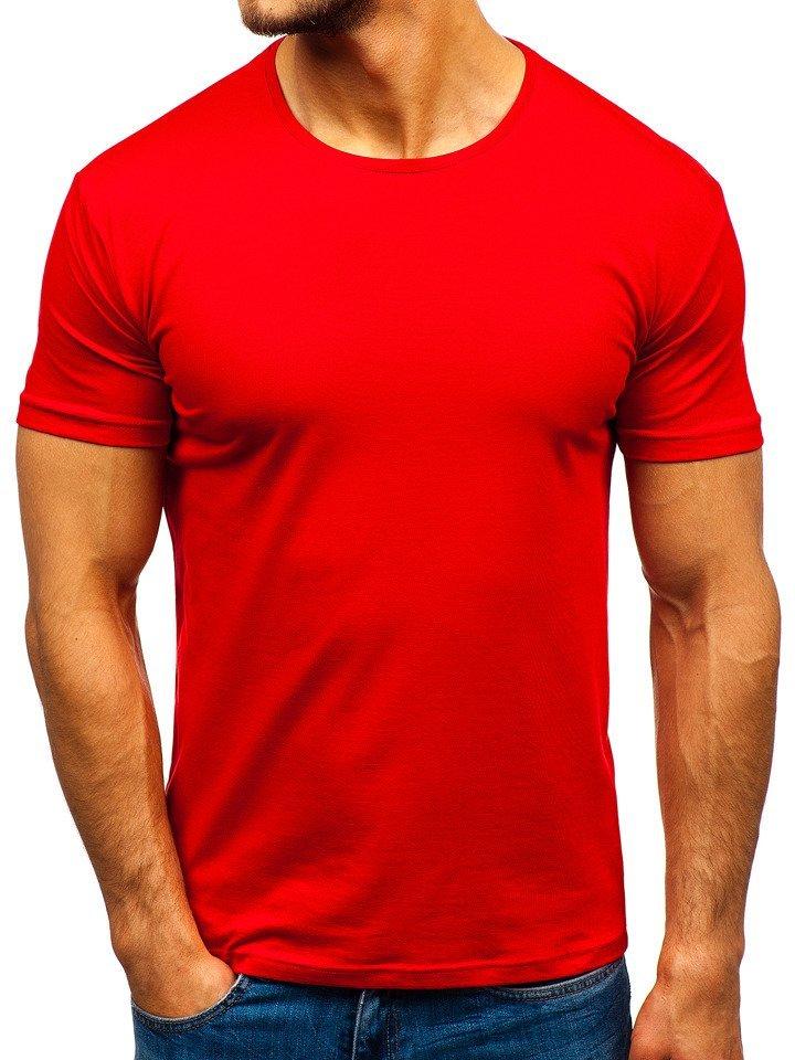 Tricou fără imprimeu bărbați roșu Bolf 9001-1 imagine