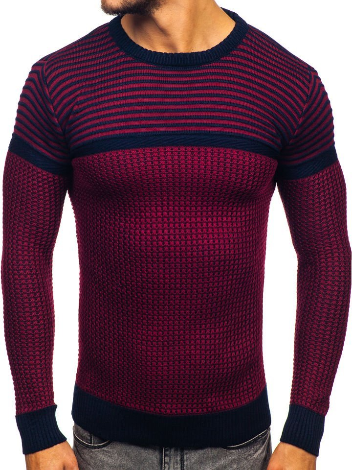 Pulover bărbați roșu Bolf 1013