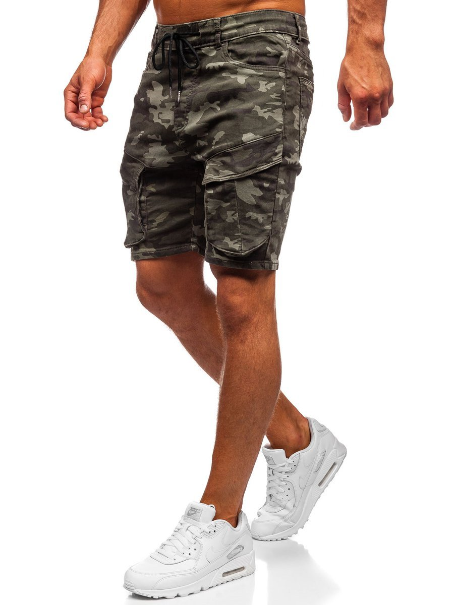 Pantaloni scurți army-verde Bolf KG3689