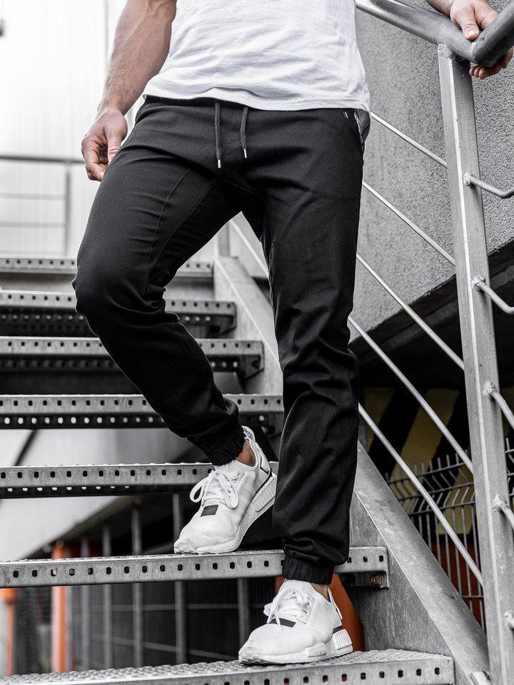 Pantaloni jogger bărbat negri Bolf 0449