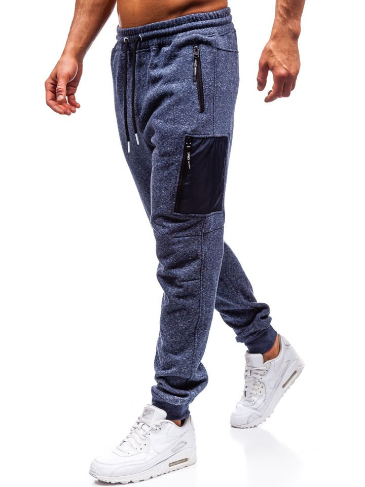 Pantaloni de trening bărbați bleumarin Bolf Q3768