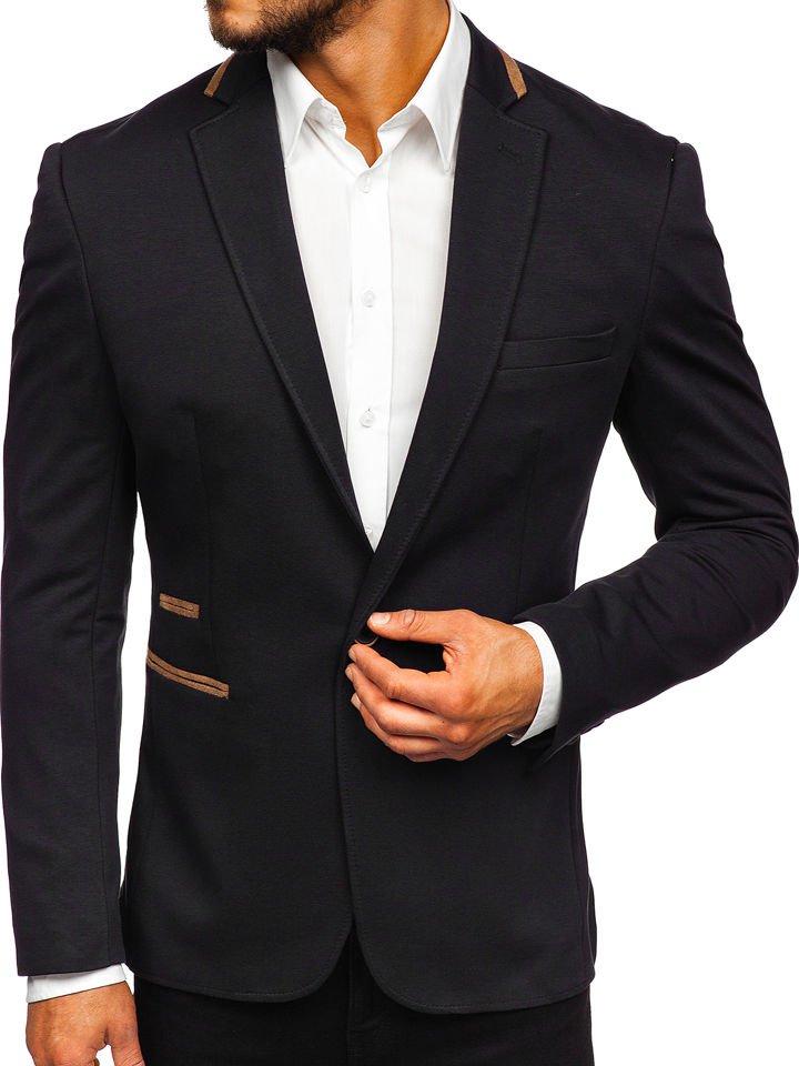 Sacou Elegant Bărbați Negru Bolf 9400