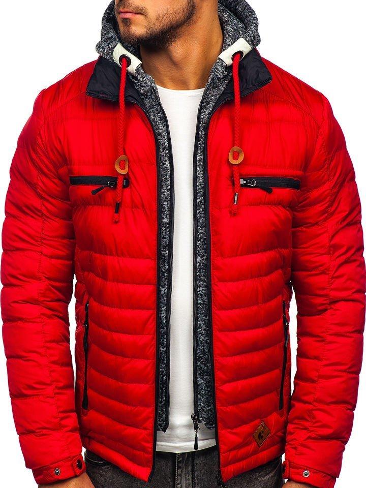 Geacă de iarnă sport roșie Bolf 50A93