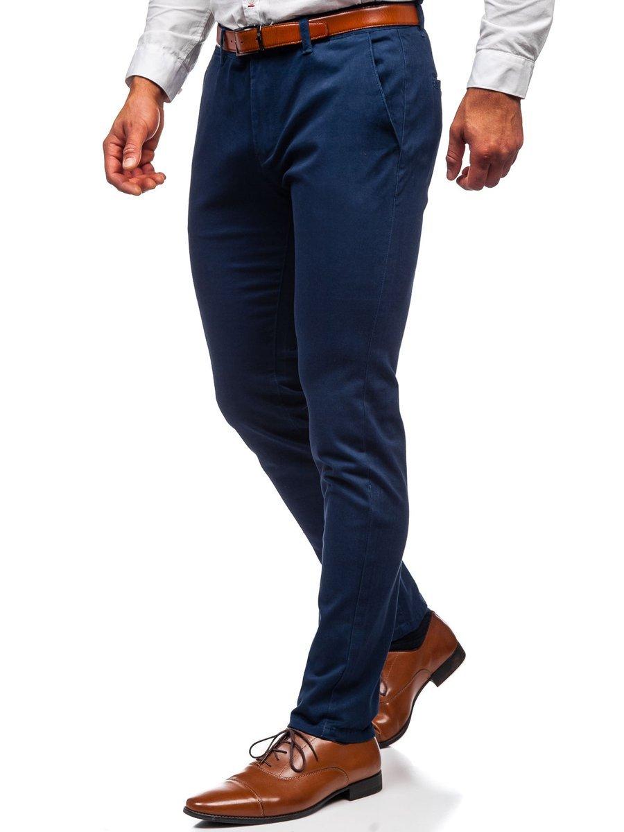Pantaloni chinos indigo bărbati Bolf 1143 imagine