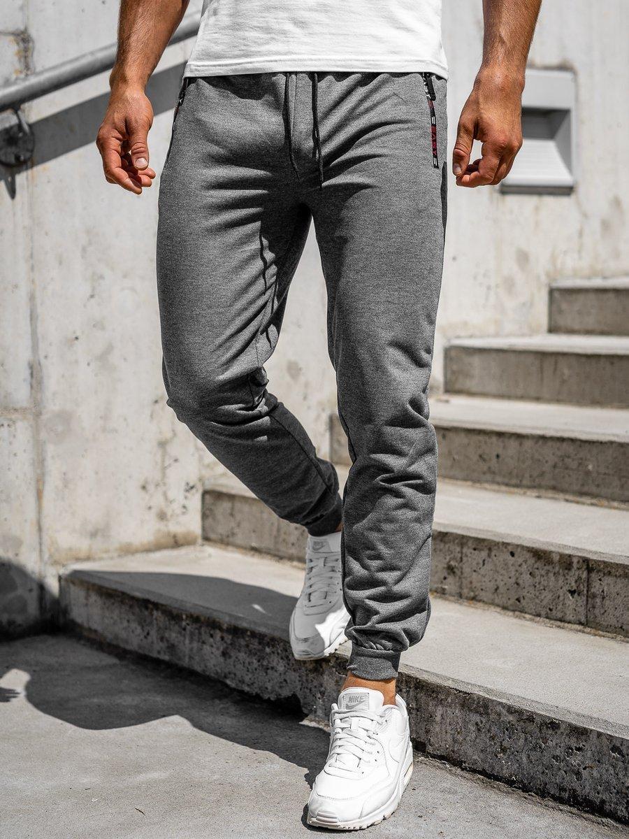 Pantaloni de trening gri bărbați Bolf CE002 imagine