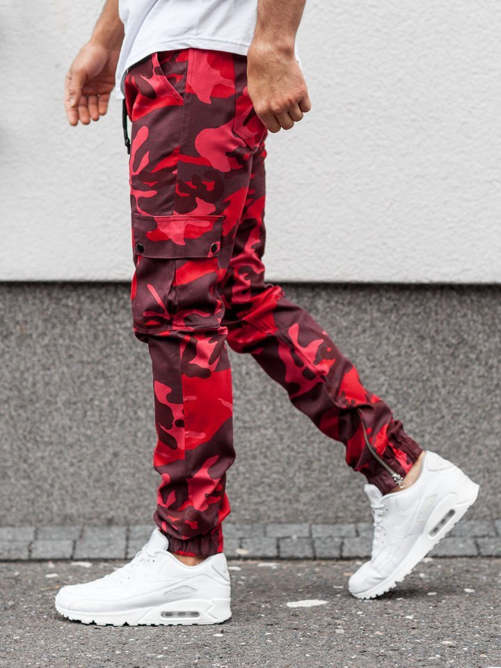 Pantaloni jogger bărbat roșii Bolf 0858 imagine
