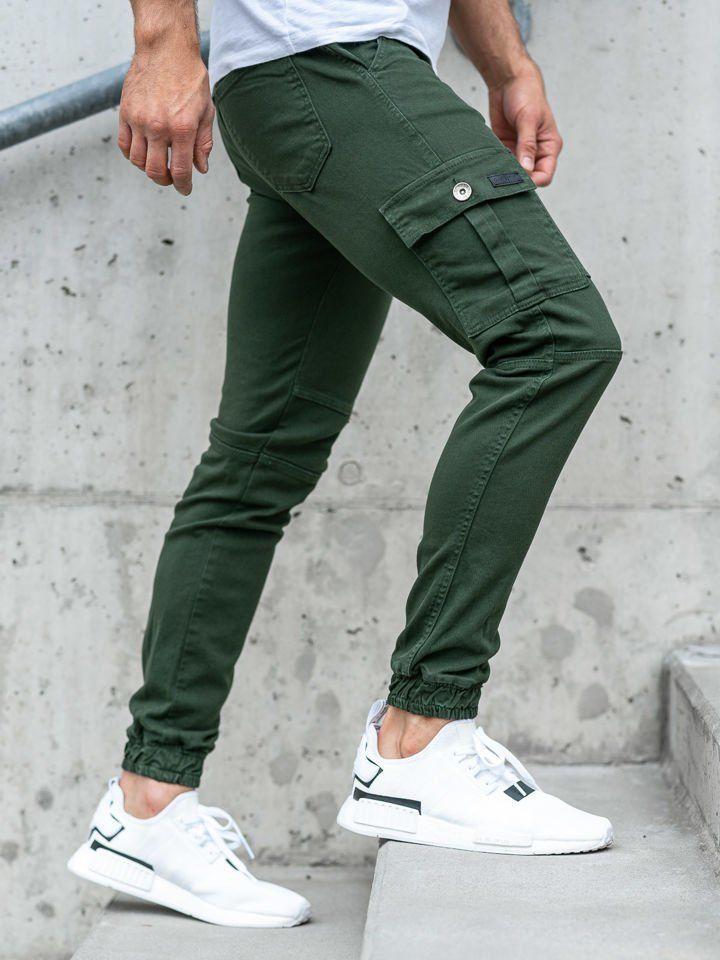Pantaloni joggers pentru bărbați verzi Bolf 2039-1 imagine